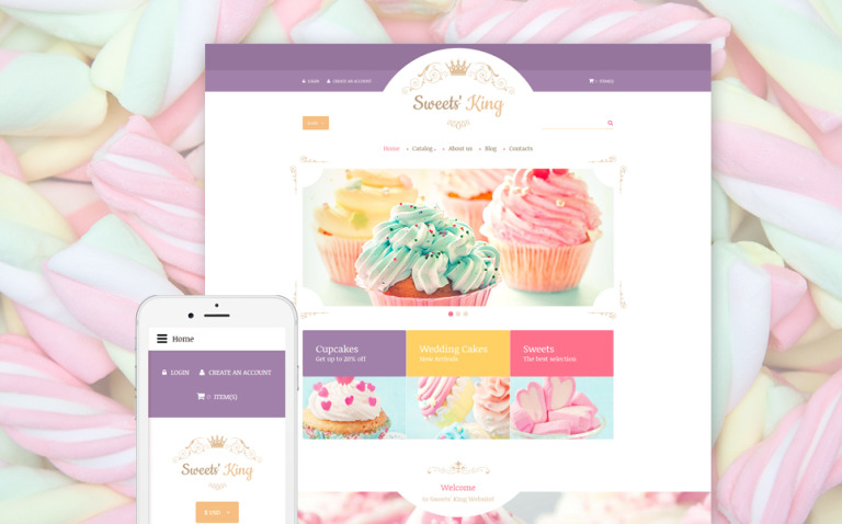 Sweet Shop Responsive VirtueMart Template New Screenshots BIG