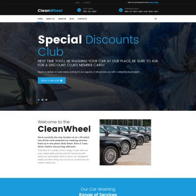 Tema de WordPress #53987 para Sitio de Lavado de autos
