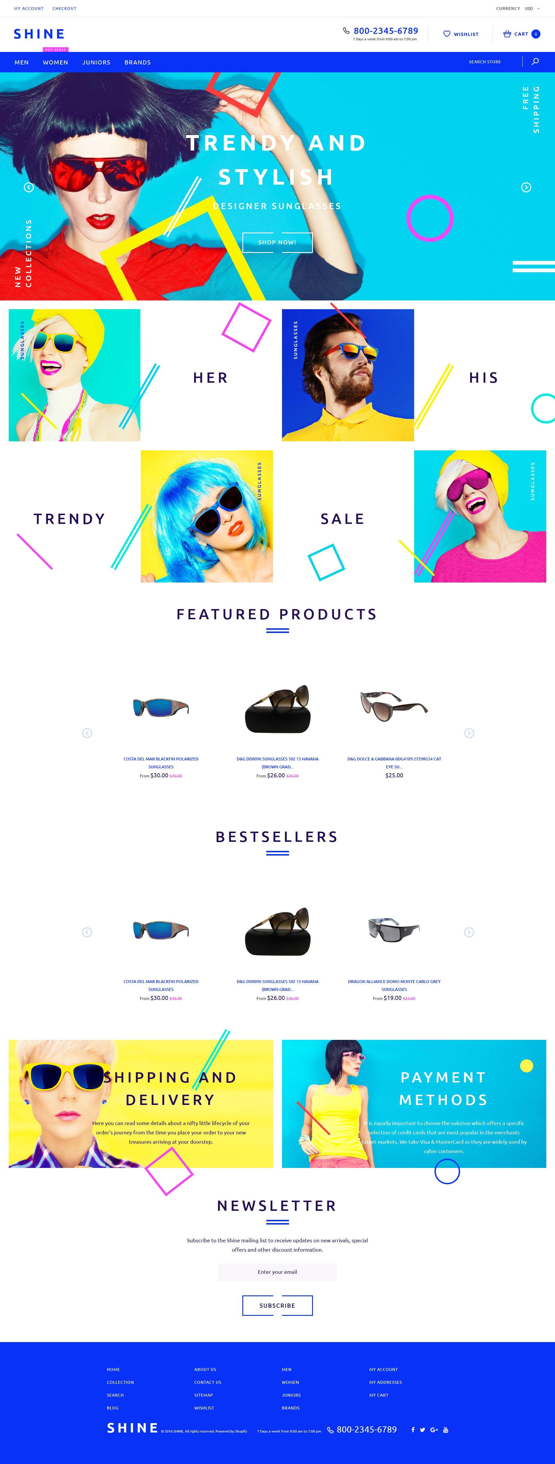 """Tema Shopify Responsive #60057 """"Shine"""""""