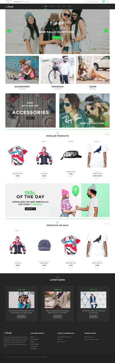 Tema WooCommerce para Sitio de Moda #60095
