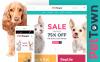 Template WooCommerce Responsive #60094 per Un Sito di Negozio di Animali New Screenshots BIG