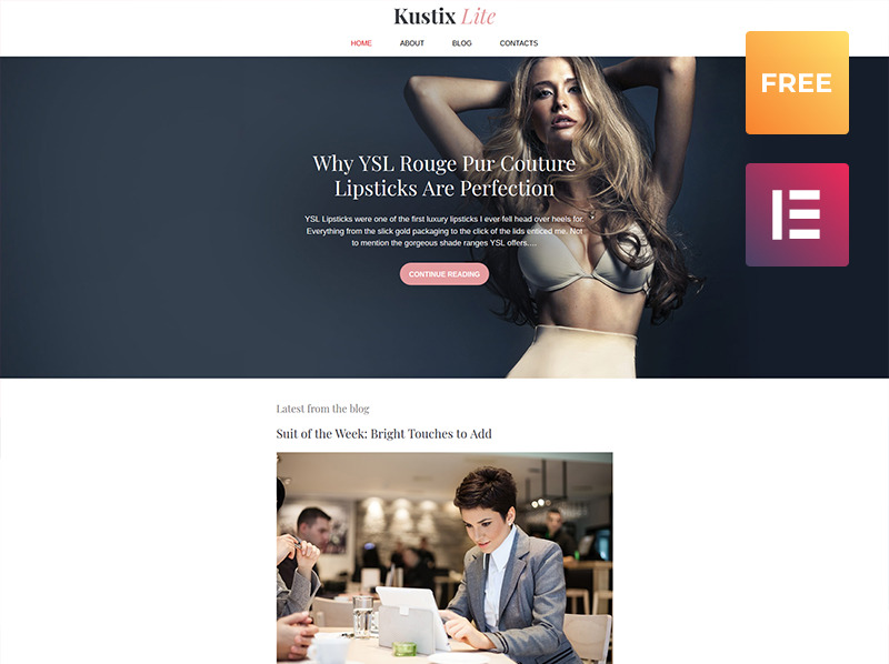 Template WordPress Responsive #60061 per Un Sito di Fashion Blog New Screenshots BIG