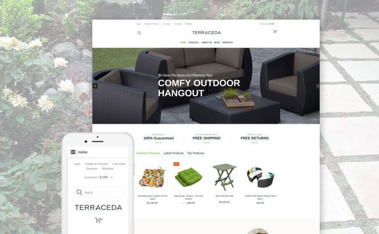 Outdoor Furniture VirtueMart Template