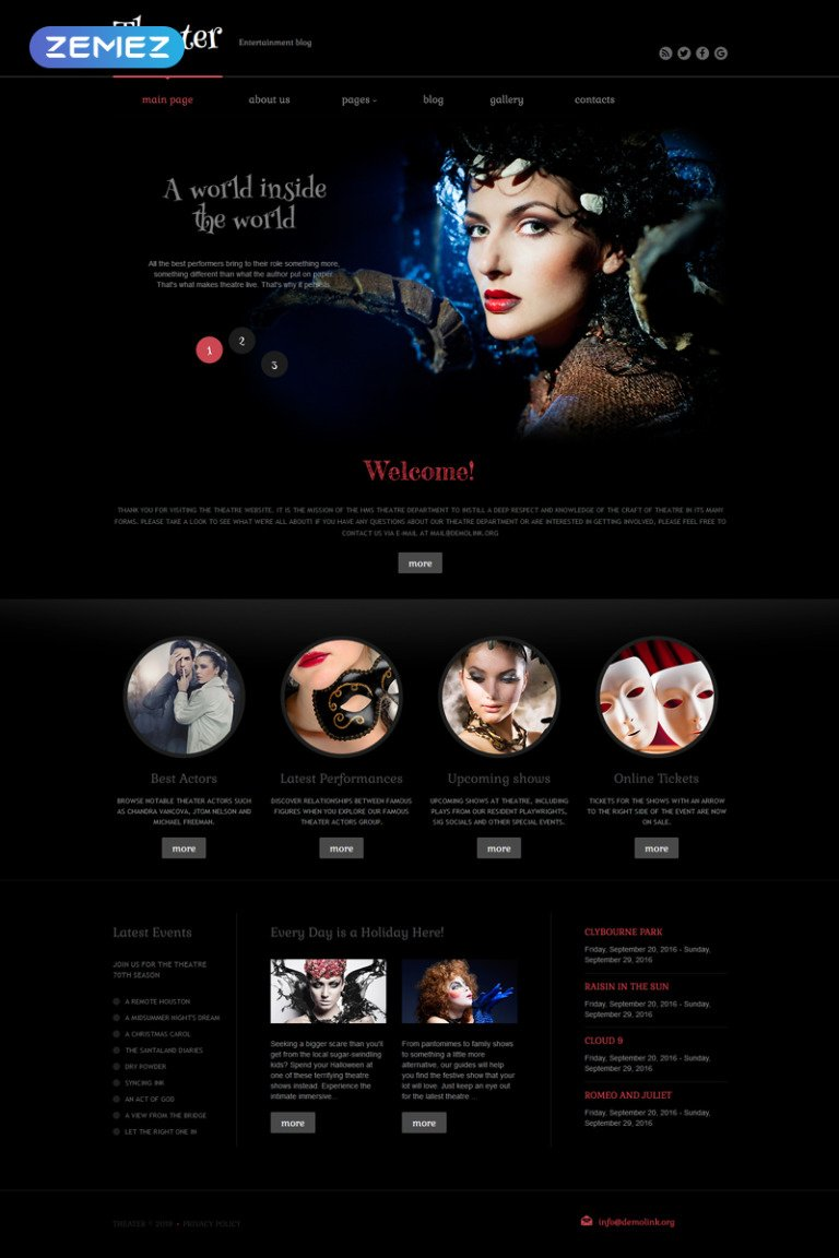 Theater Performance Joomla Template New Screenshots BIG