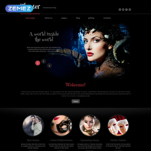 Theater Performance - Joomla! Template based on Bootstrap