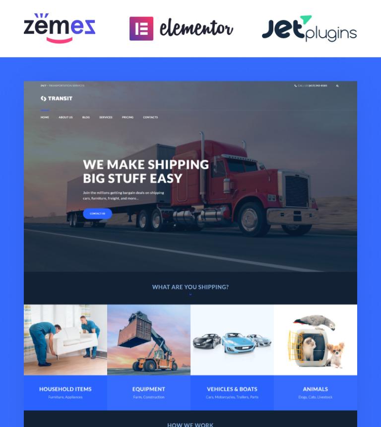 Transit - Logistics and Transportation Service Tema WordPress №60055