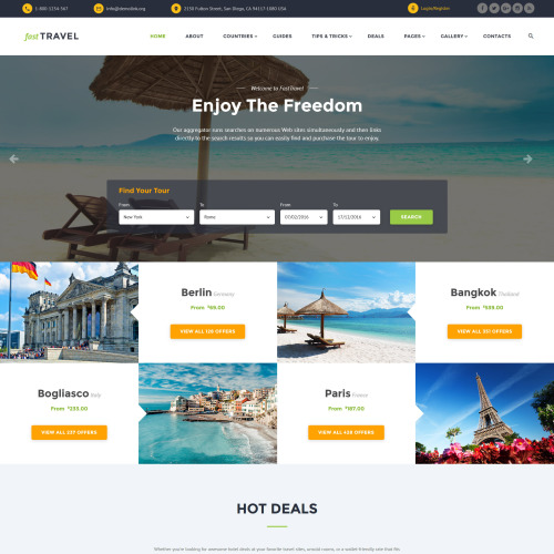Fast Travel - Website Template based on Bootstrap