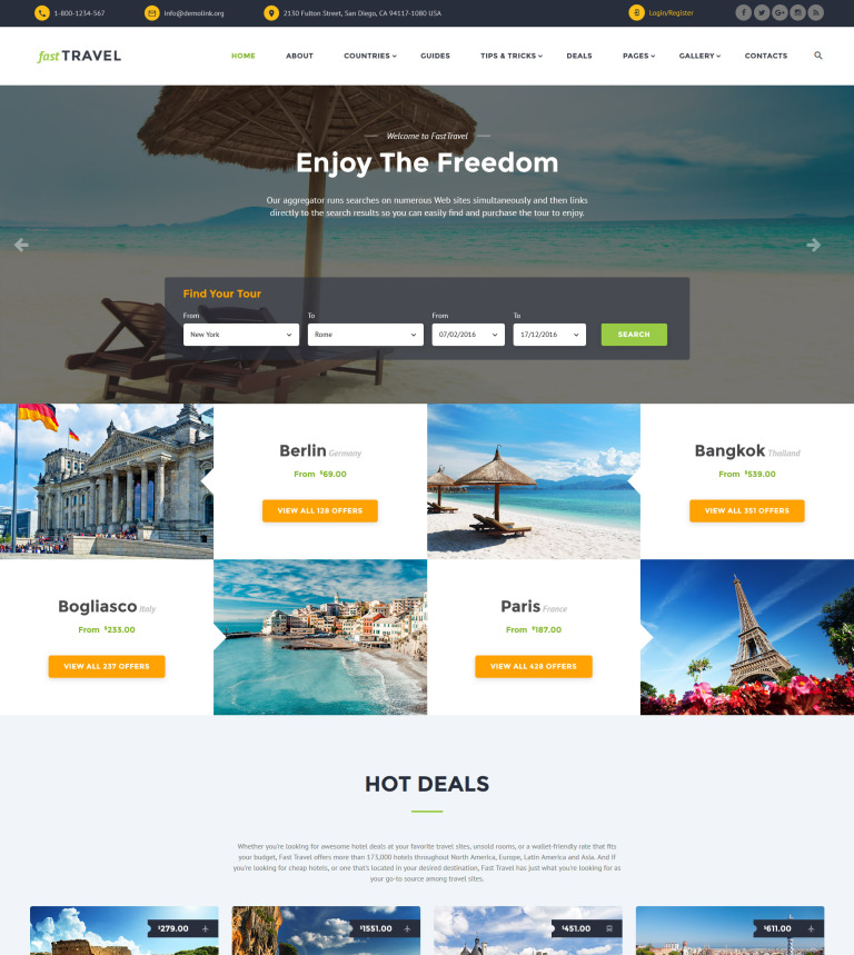 Travel Agency Responsive Website Template #60026
