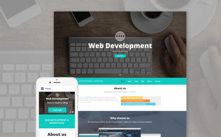 Web Development Joomla Template New Screenshots BIG