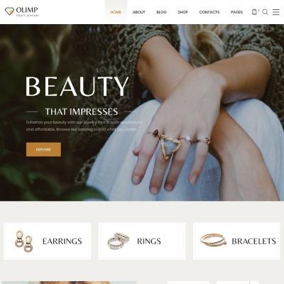Responsive Website Vorlage für Schönheit