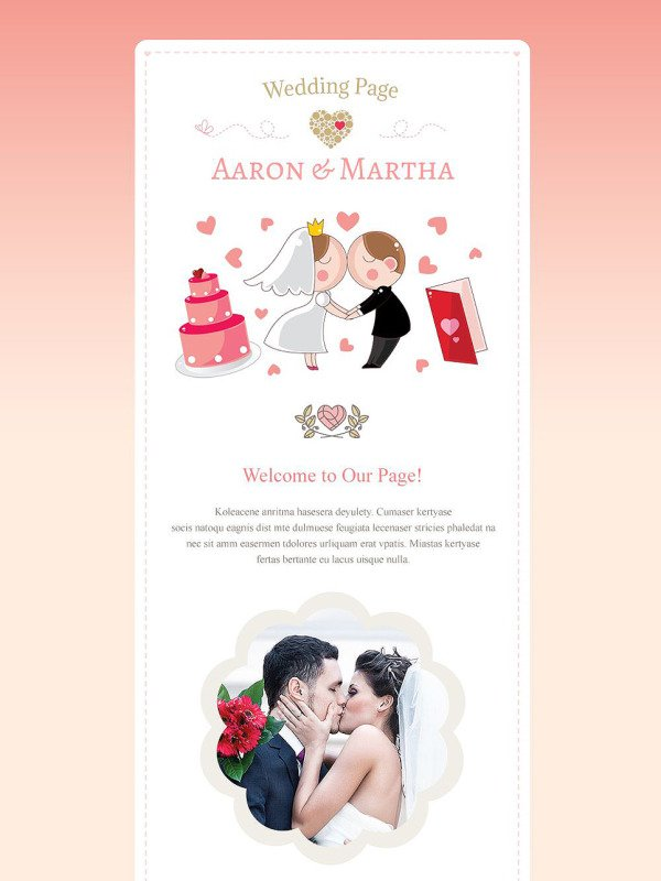 Wedding newsletter template 54967 for Bridesmaid newsletter template