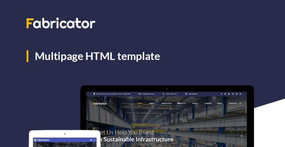 Modèles HTML5 Industriel #60101