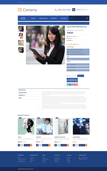 ADOBE Photoshop Template 60103 Home Page Screenshot
