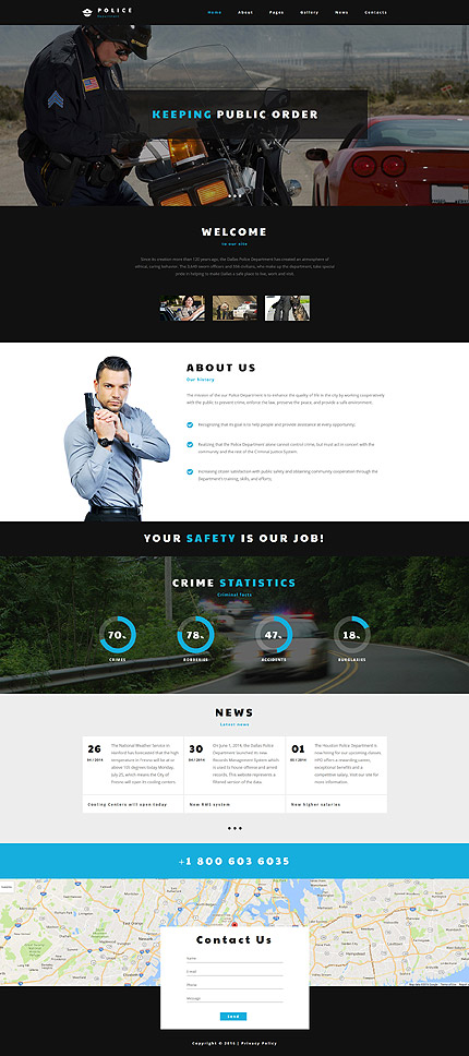Joomla Theme/Template 60104 Main Page Screenshot