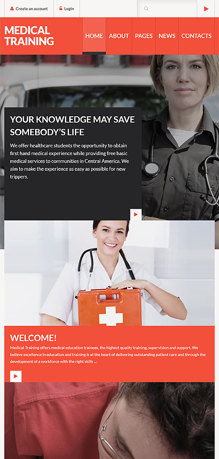 Joomla Theme/Template 60105 Main Page Screenshot