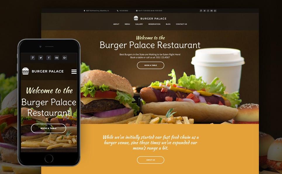 Responzivní WordPress motiv na téma Rychlé občerstvení New Screenshots BIG
