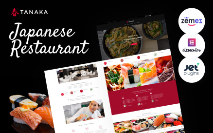 Tanaka - Japanese Restaurant WordPress Theme