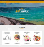 Art & Photography WordPress Template 60115