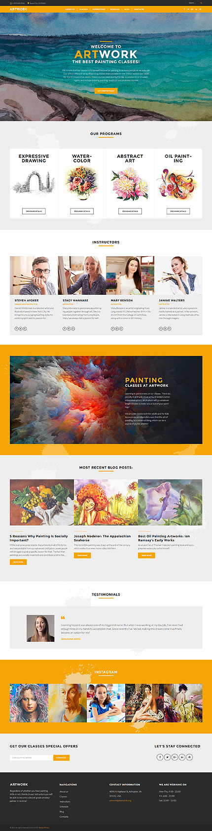 WordPress Theme/Template 60115 Main Page Screenshot