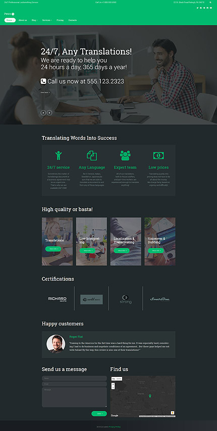 WordPress Theme/Template 60121 Main Page Screenshot