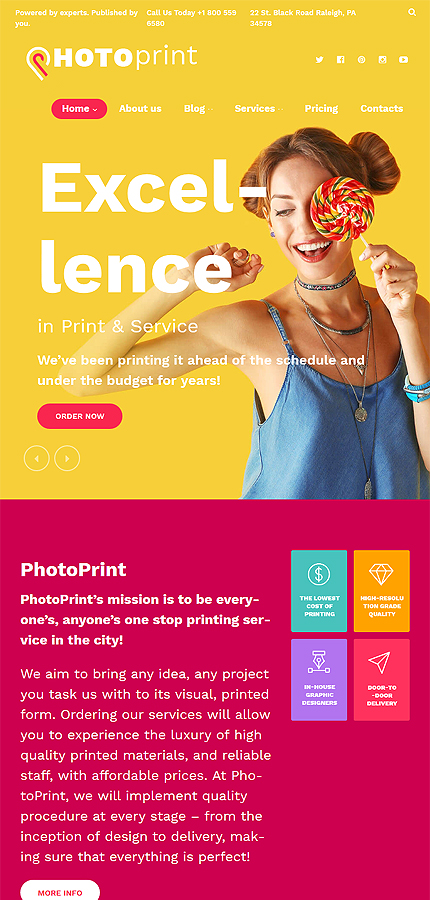 ADOBE Photoshop Template 60122 Home Page Screenshot