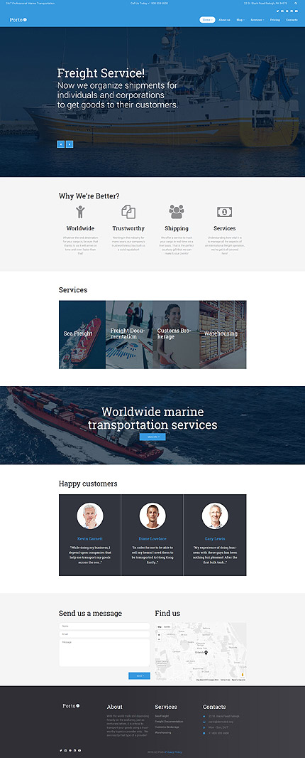 WordPress Theme/Template 60123 Main Page Screenshot