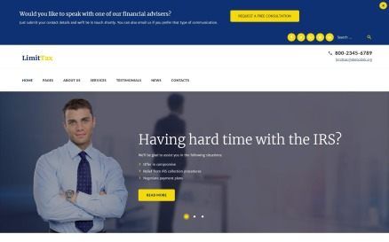 LimitTax - Auditing and Accounting WordPress Theme