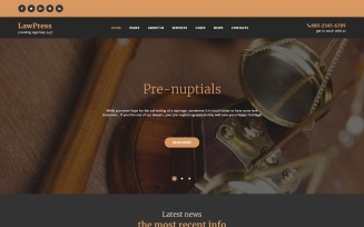 LawPress - Law Firm Responsive WordPress Theme