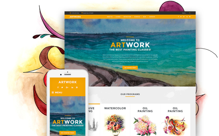Art School Responsive WordPress Theme New Screenshots BIG