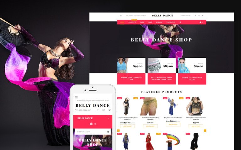 Belly Dance Shopify Theme New Screenshots BIG