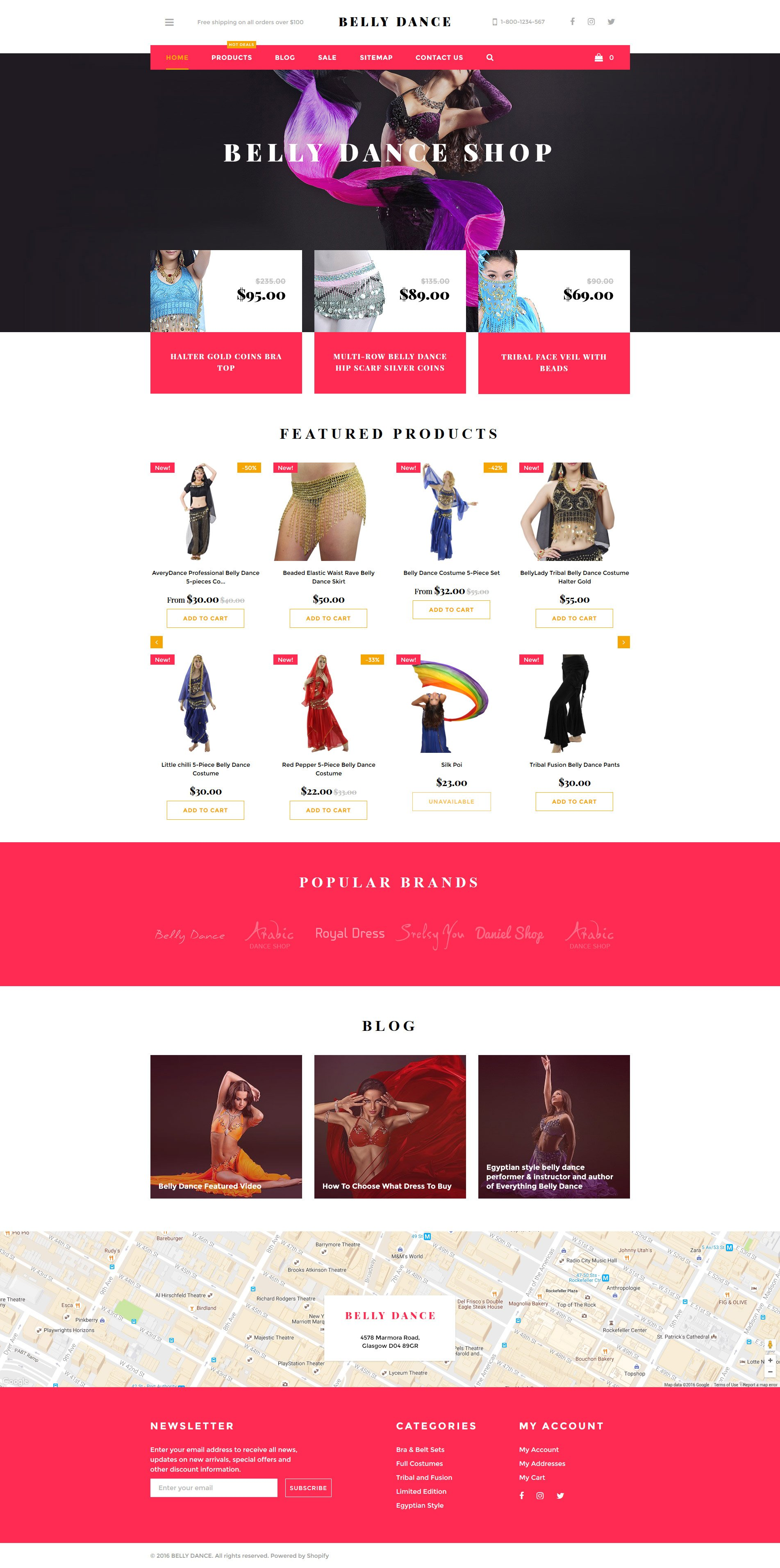 Dancer shopify theme for Free shopify templates
