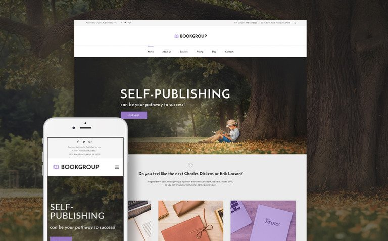 BookGroup - Book Publishing WordPress Theme New Screenshots BIG