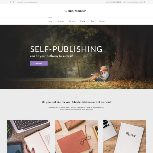 Book Group - Responsive WordPress Template