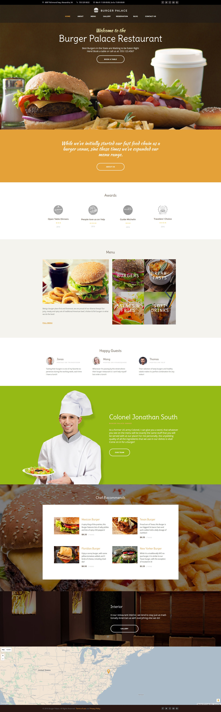 """Burger Palace - Fast Food Restaurant"" thème WordPress adaptatif #60109"