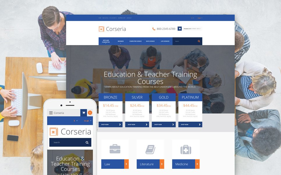 Career Education Responsive OpenCart Template New Screenshots BIG