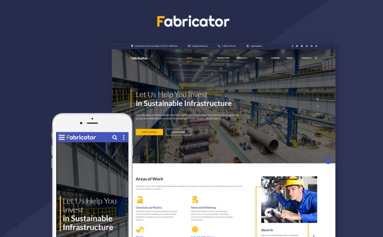 Fabricator - Industrial Company Multipage Website Template
