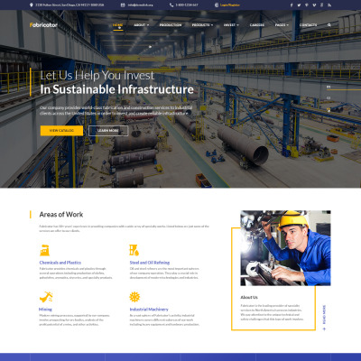 Industrial templates for Industrial design sites