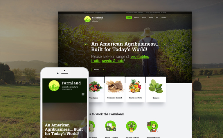 Farmland - Agriculture & Farming WordPress Theme New Screenshots BIG