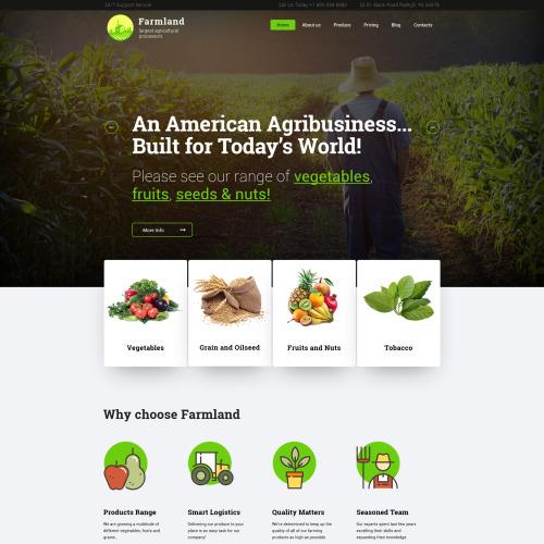 Farmland  - Responsive WordPress Template