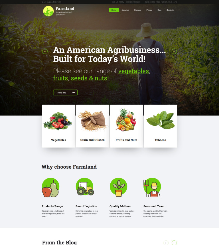 Agriculture Industry WordPress Theme