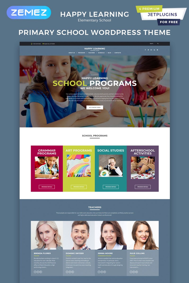 """Happy Learning - Education Multipurpose Modern Elementor"" thème WordPress adaptatif #60129"