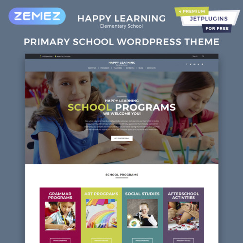 Happy Learning  - Responsive WordPress Template