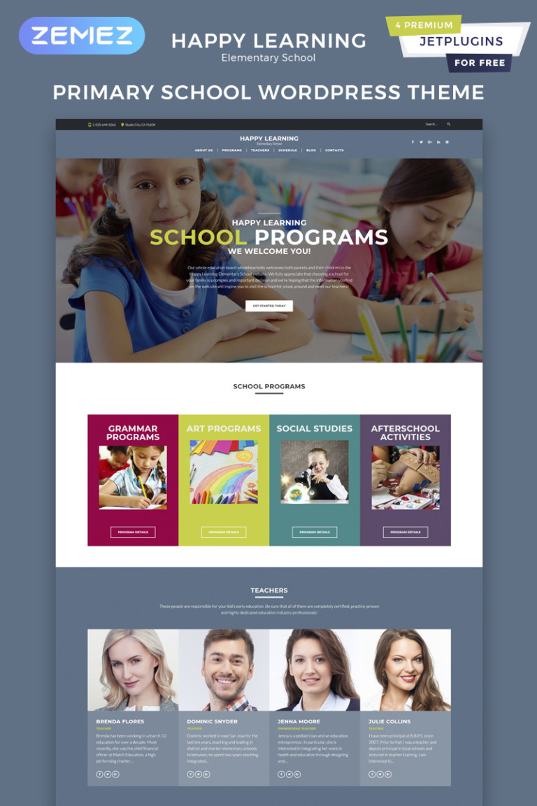 Happy Learning - Primary School WordPress Theme New Screenshots BIG