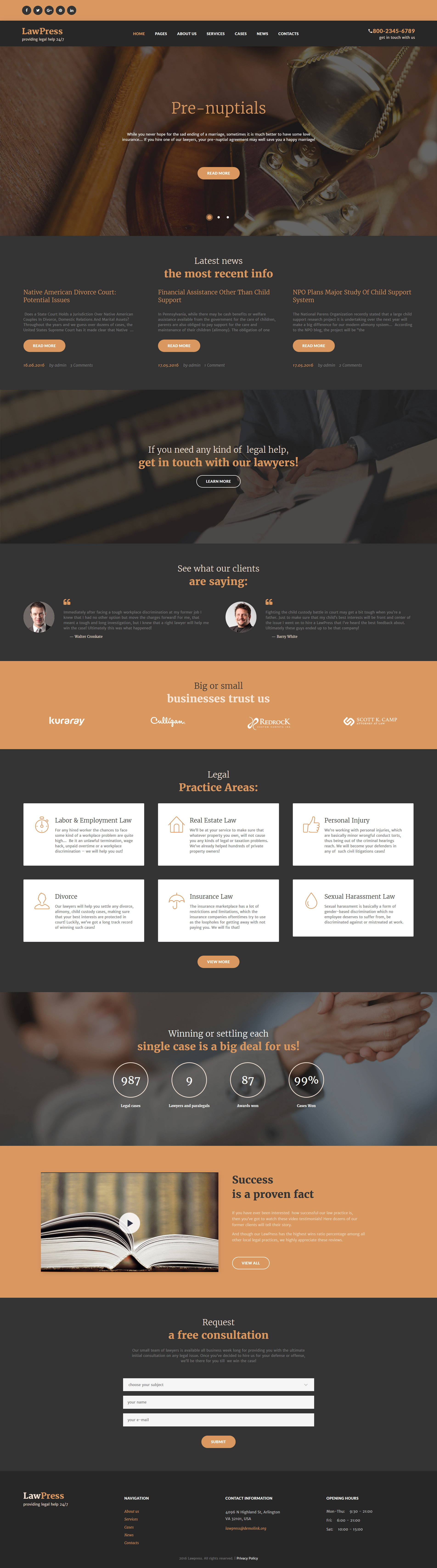 LawPress - Law Firm Responsive WordPress Theme - screenshot
