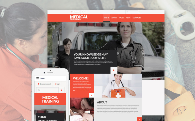 Medical Training Joomla Template New Screenshots BIG