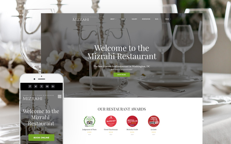 Mizrahi - Kosher Restaurant WordPress Theme New Screenshots BIG