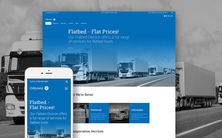Odyssey - Transportation, Trucking & Logistics WordPress Theme New Screenshots BIG