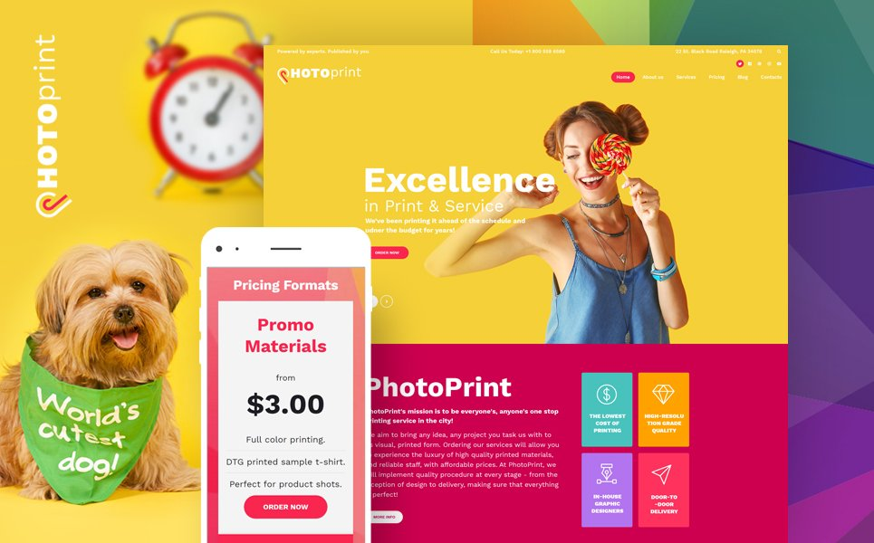 PhotoPrint - Print Shop Responsive WordPress Theme