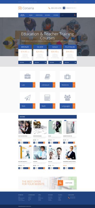 Responsive Plantilla OpenCart #60103 para Sitio de  para Sitio de Formación profesional