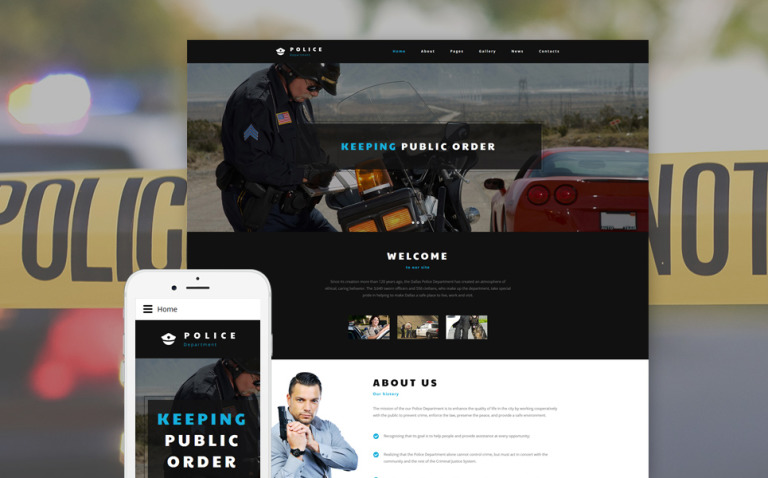 Police Department Joomla Template New Screenshots BIG